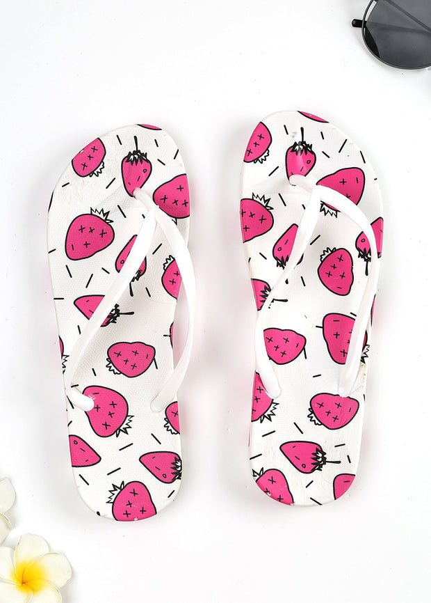 Lovely Fruits printed Beach Slippers