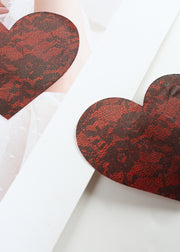 Invisible Disposable Chest Sticker-Heart-shaped Lace