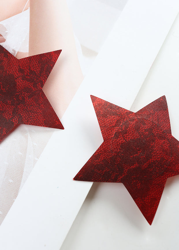 Invisible Disposable Chest Sticker-Star Shaped Lace