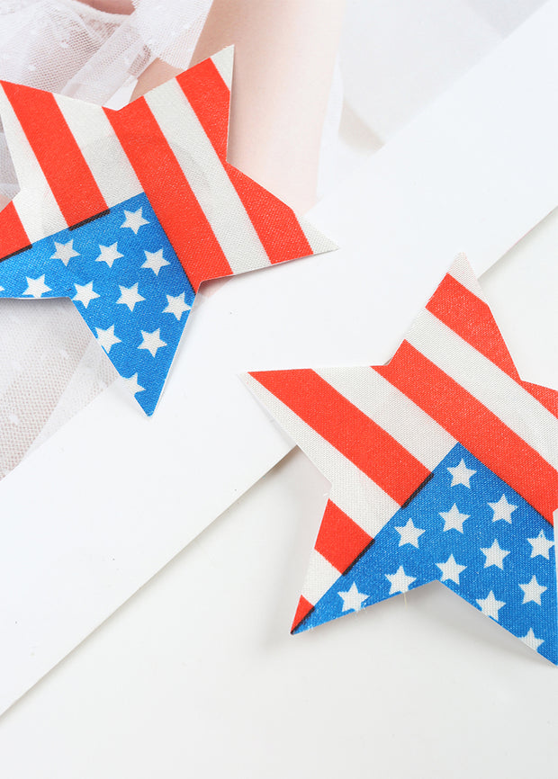 Invisible Disposable Chest Sticker-Stars Flag pattern