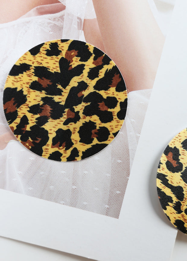 Invisible Disposable Chest Sticker-Round Leopard