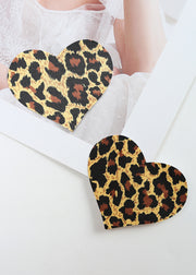 Invisible Disposable Chest Sticker-Heart Leopard