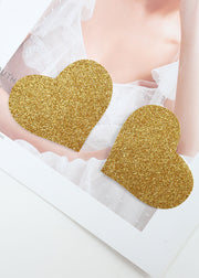 Invisible Disposable Chest Sticker-Golden Heart