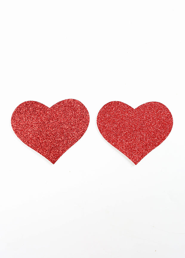 Invisible Disposable Chest Sticker- Red & Brown Heart