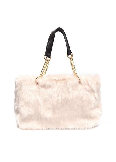 Furry One-shoulder Oblique Bag