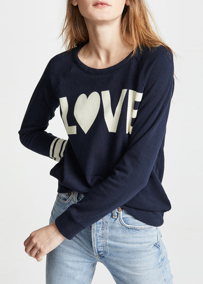 Letter Printed Loose Tops