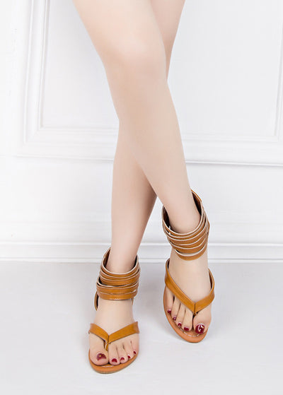 Multi-storey Open-toed flat-soled sandals