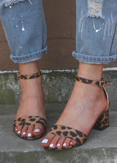 Leopard Printed Rough Sandals