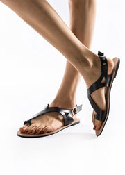Open-toed Cross Flat-soled Sandals