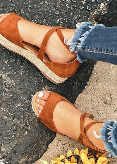 Hemp Crisscross Sandals