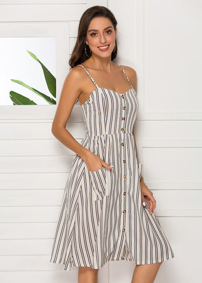Stripe Printed Camisole Dress