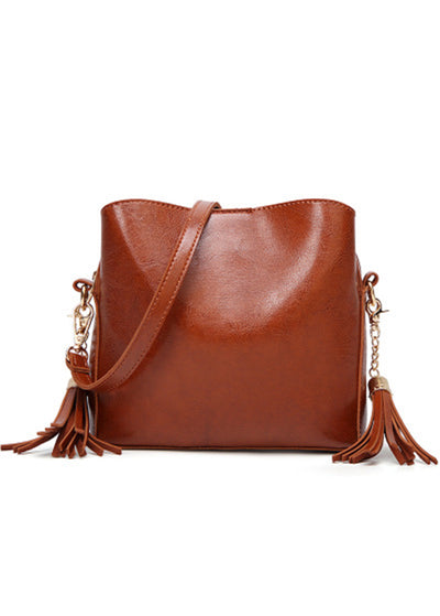 Fringed Decorative Inclined Shoulder Bag
