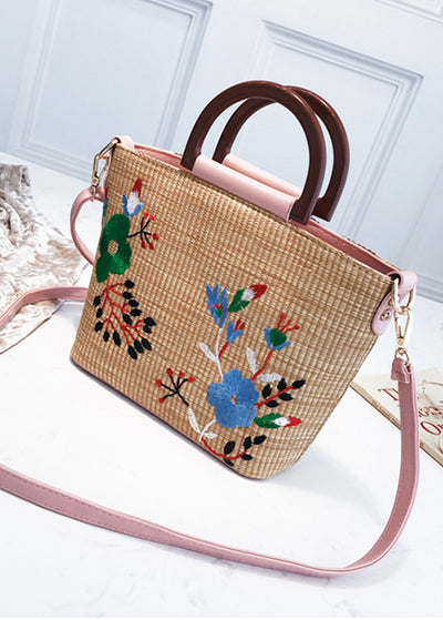 Embroidered Knitted Handbag