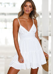 Lace Sling Back Bandage Dress