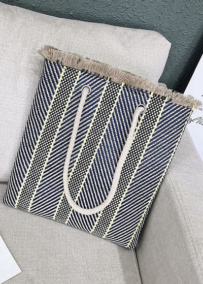 Stripe Braided Shoulder Bag
