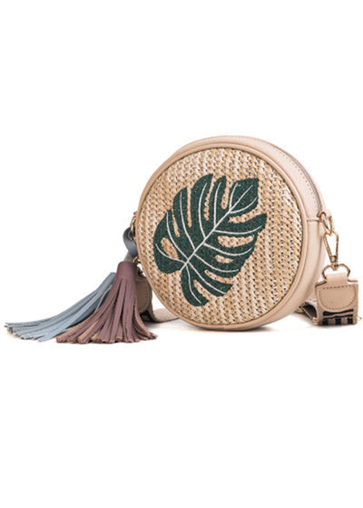 Embroidery Knitted Shoulder Bag