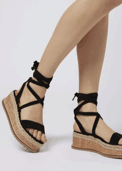 Thick Base Cross Bandage Sandals