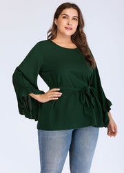 Plus Monochrome pagoda Sleeve Top