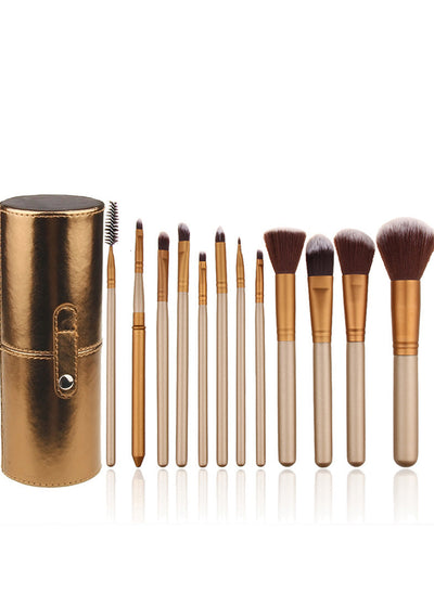 Makeup Brushes 12pcs With Cosmetic Bucket