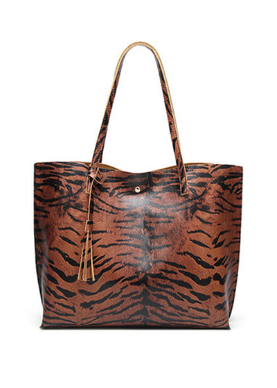 Leopard Printed Single Shoulder Handbag