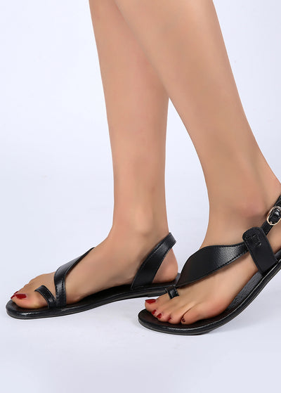Open-toed Flat-soled Sandals