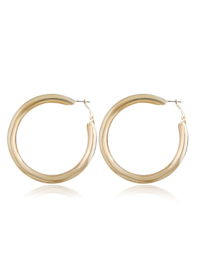 Personality Exaggeration Metal Ring Hollow Earrings