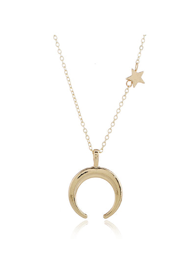 Simple Star-Moon Necklace