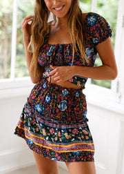 Bohemian printed Skirt Set