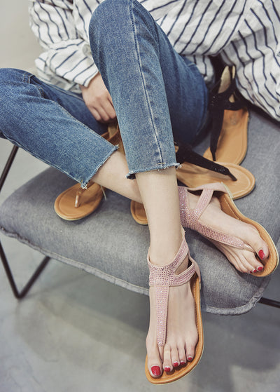Open-toed Herringbone Sandals