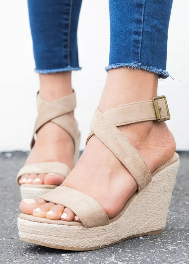 Hemp Rope Woven Wedge Sandals