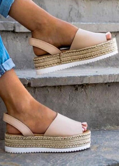 Thick Bottom Hemp Straw Wedges