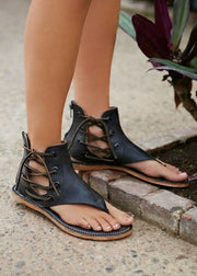 Flat Zipper Beach Sandals