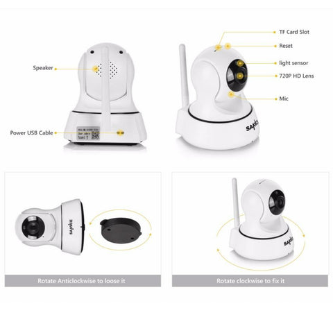 Wi-Fi PET Camera HD 720P Night Vision Pan & Tilt
