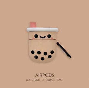 Cute Boba Airpods Case