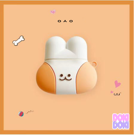 Cute Chubby Bunny Airpods Case