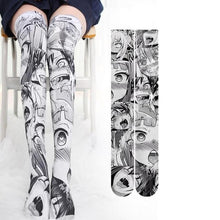 Anime Ahegao Thigh High Socks