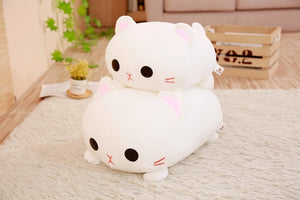 Kawaii White Kitty Cat Plush