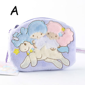 Pastel Colored Cute Little Twin Star Coin Purses
