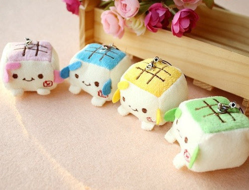 Cute 4 cm Mini Tofu Plush