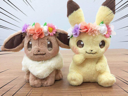 Limited Easter Pikachu and Eevee Plush Doll