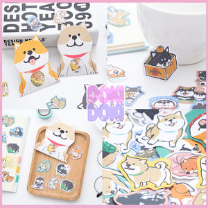 1pack/30pc Cute Shiba Doge Sticker Pack