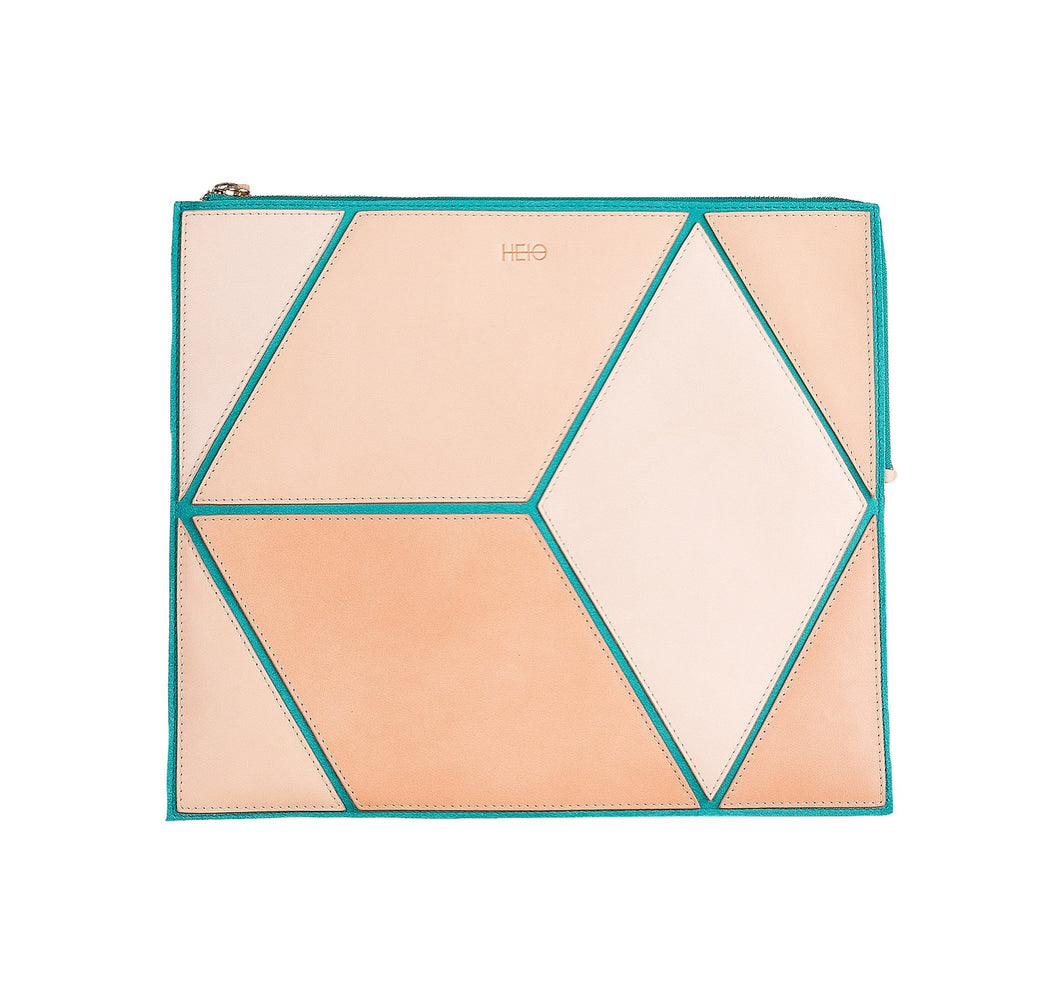 The Cube Turqueta Large Clutch