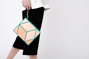 The Cube Turqueta Medium Clutch