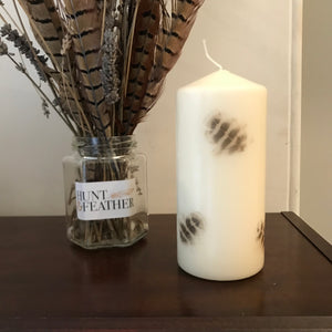 Hen Pheasant Feather Candle