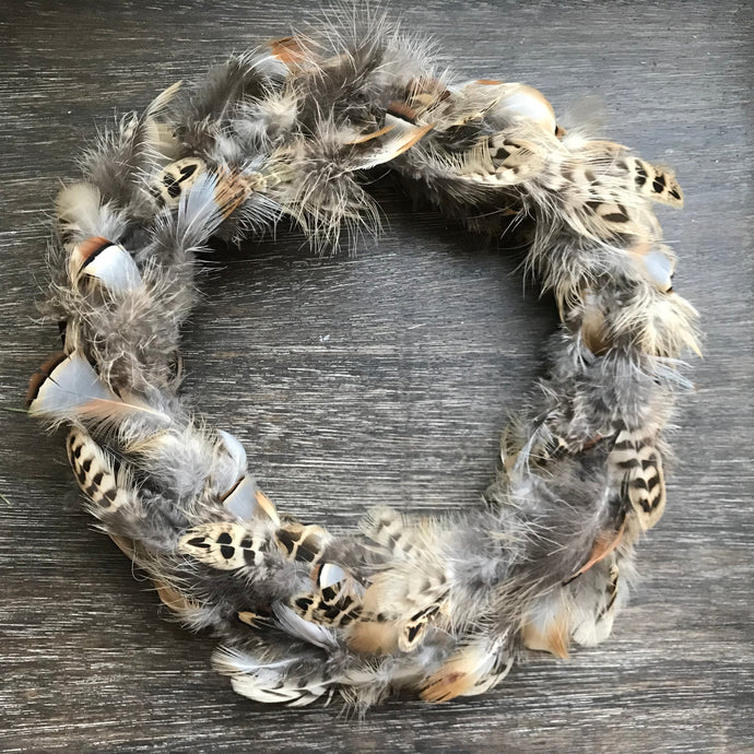 Feather Wreath - Pheasant and Partridge