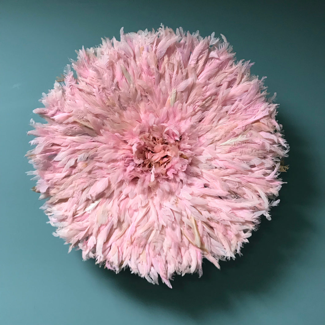 Pale Pink Feather Juju Hat