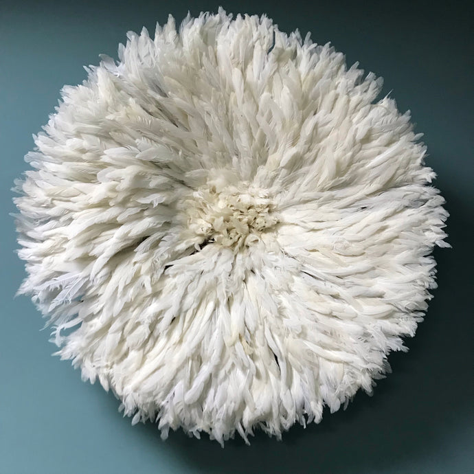 White Feather Juju Hat