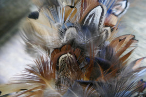 Textured Feather Wreath - Cock Pheasant