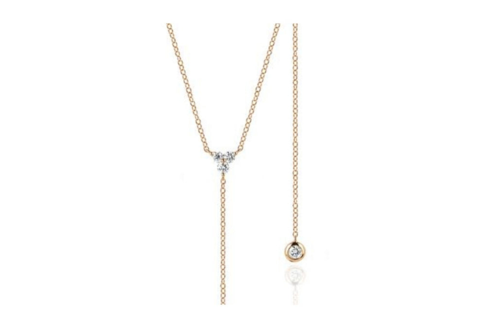 Flo necklace Rosegold