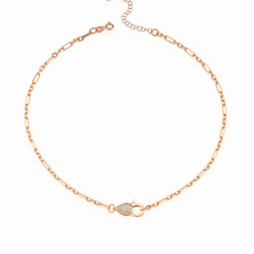 Claps Chain Choker Rosegold